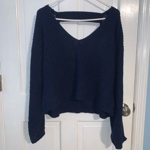 Urban Outfitters Navy Sweater w/ Open Back